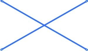 Giằng chéo sơn dầu màu xanh 1.96 m | Thanh chéo giàn giáo | Chéo giàn giáo